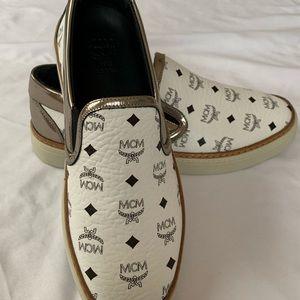 MCM Visetos Monogram Slip On Shoes